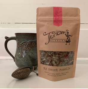 My Sweet Roselle (Peppermint Hibiscus)- Loose leaf tea from Tea Town Alabama