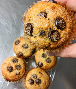 Chocolate Chip Banana Muffins (Choice of Traditional, Vegan or Gluten Free)