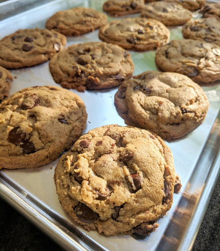 Salted Chocolate Chip Rye Cookies (quantities of 6)