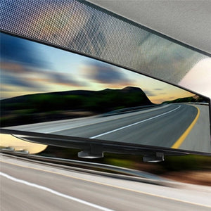 Auto Accessories Car Styling 300Mm Wide Anti-Glare Blue Tint Curved Surface Rear View Mirror Fit All Car Increases Visibility,Blue