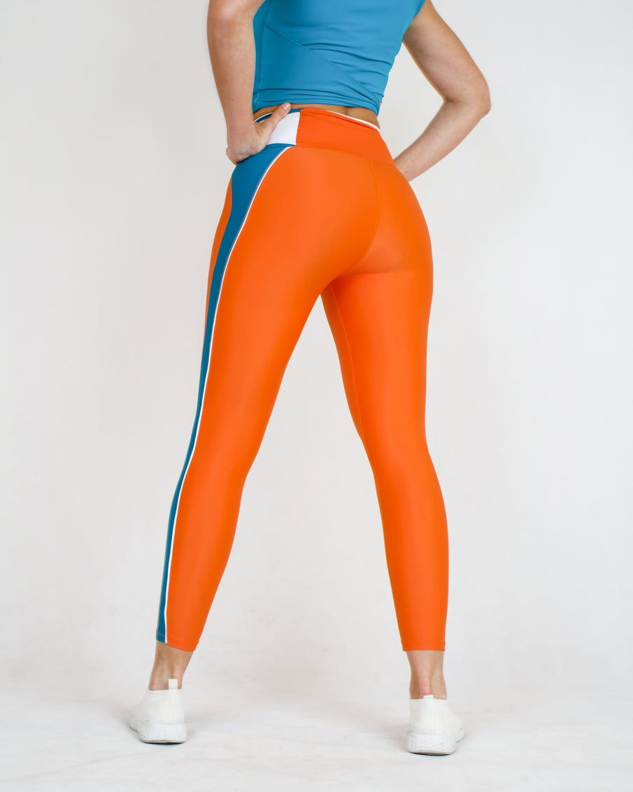 BOLD Orange Recycled Leggings
