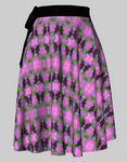 Purple Spotted Swallowtail 2 Wrap Skirt