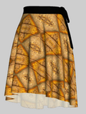 Leaf Mimic Wrap Skirt