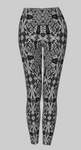 Black and White Tiger Swallowtail  Leggings
