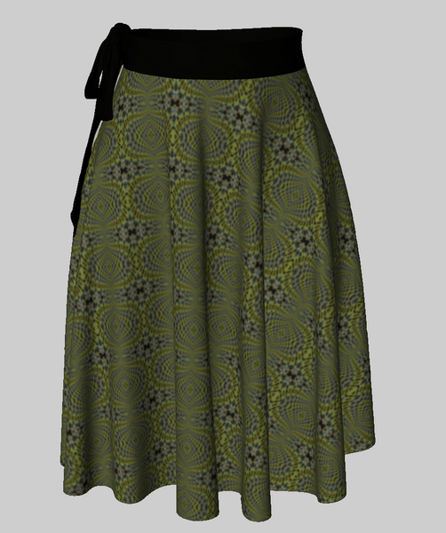Green Sunset Wrap Skirt