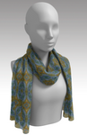 Rosette Sunset Long Scarf