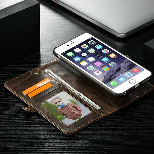 Detachable Leather Magnetic Wallet Case for iphone - Securgadget Store