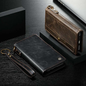 Leather Magnetic Wallet Case for iphone