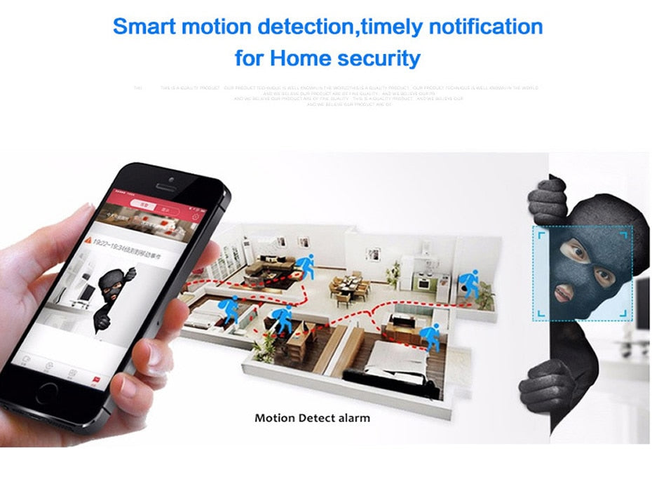 MINI WIFI IP Camera Wireless Small CCTV Infrared Night Vision Motion Detection SD Card Slot Audio APP - Securgadget Store