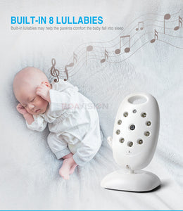 Baby Wireless Monitor 2.0'' LCD Babysitter 2 Way Talk back Night Vision with Temperature and 8 Lullabies - Securgadget Store