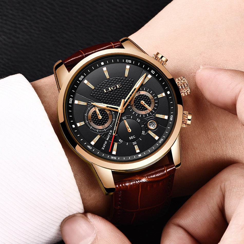 Men Watches - Luxury Brand Waterproof Sport Watch - Chronograph Quartz Military - Securgadget Store