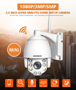PTZ IP WIFI Camera 1080P 3MP 5MP Super HD 5X Zoom Two Way Audio Wireless Home Security Camera P2P - Securgadget Store