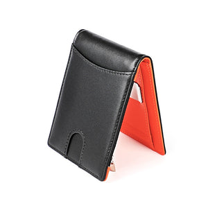 RFID Blocking Genuine Leather Men's Money Clip Wallet With Coin Pocket Credit Card Cash Holder - Securgadget Store
