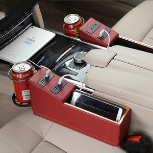Car Storage Box with Multi-function- Fits Seat Gap with USB - Securgadget Store
