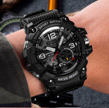 Sport Men Wrist Watch - Military Army Famous Brand Dual Display - Securgadget Store