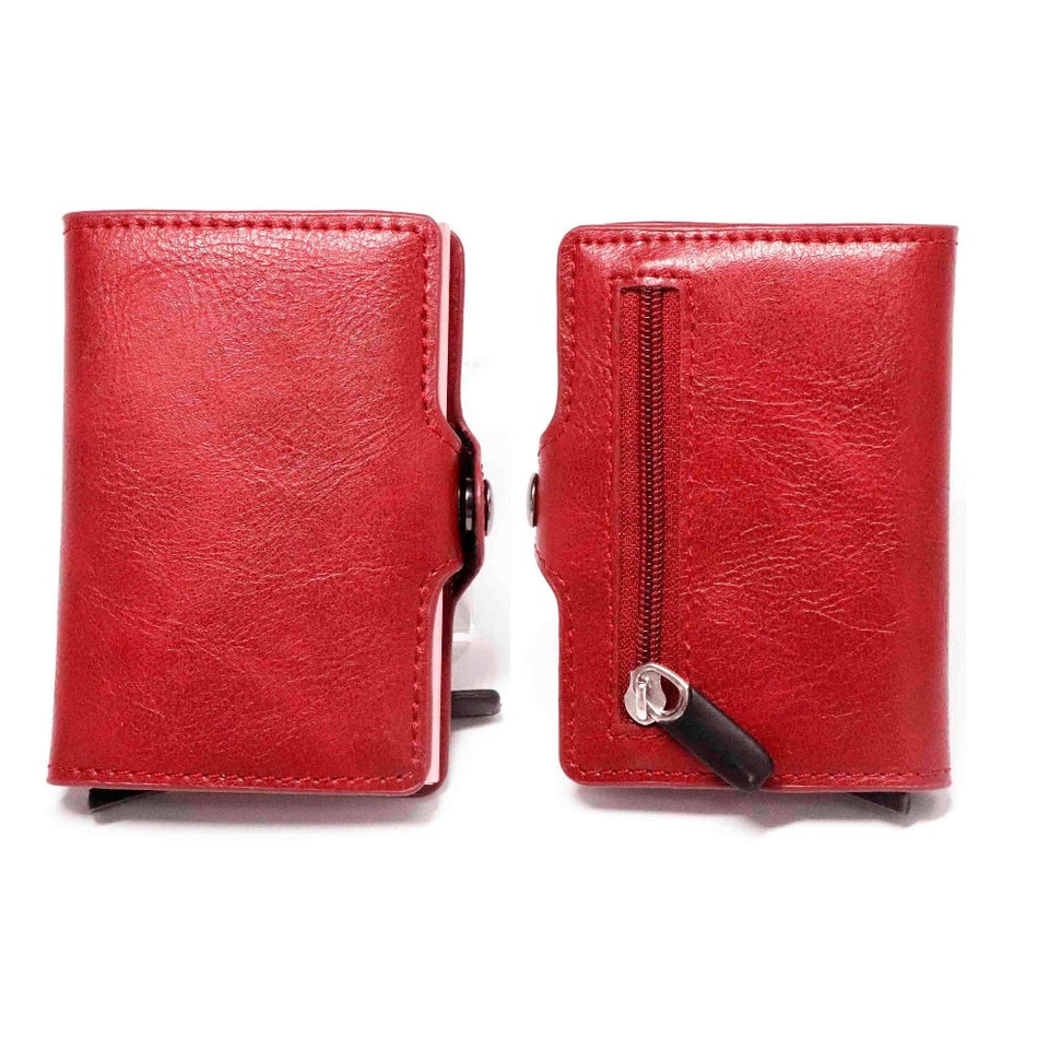 RFID Credit Card Holder in Multi-function Automatic Aluminium Alloy Leather - Securgadget Store