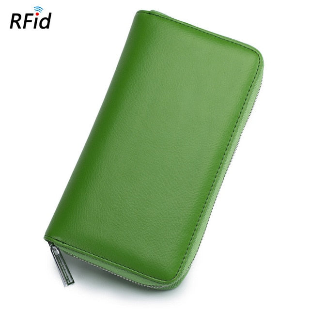 Leather RFID Blocking Credit Card Holder - Securgadget Store