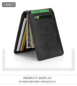 Unisex RFID Blocking Slim Korean Design Leather Wallet Purse - Securgadget Store