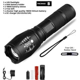 Rechargeable LED Flashlight Torch - Waterproof  and Shock Resistant - Securgadget Store