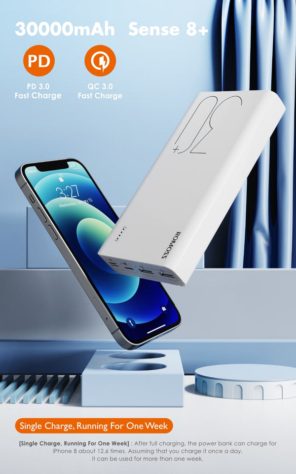 Power Bank 30000mAh Fast Charging-SecurGadget.com