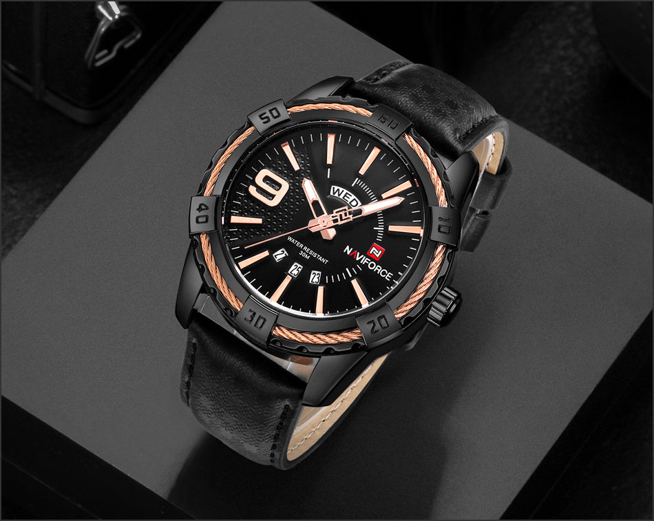 Trendy Luxury Brand Men Quartz Rugged Watches - Securgadget Store