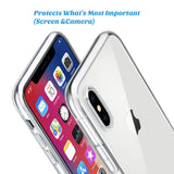 "iPhone Case, Slim Clear Soft TPU Cover Support Wireless Charging for Apple 5.8"" iPhone X /iPhone 10 - Securgadget Store"