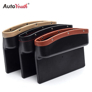 AUTOYOUTH Car Seat Gap Pockets Storage Box Car Organizer Seat Console Universal Automobile Seat Crevice Side Pocket Tidying - Securgadget Store