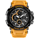Rugged Men Watch Waterproof Dual Time Display Sport Wristwatch Digital Analog Quartz - Securgadget Store