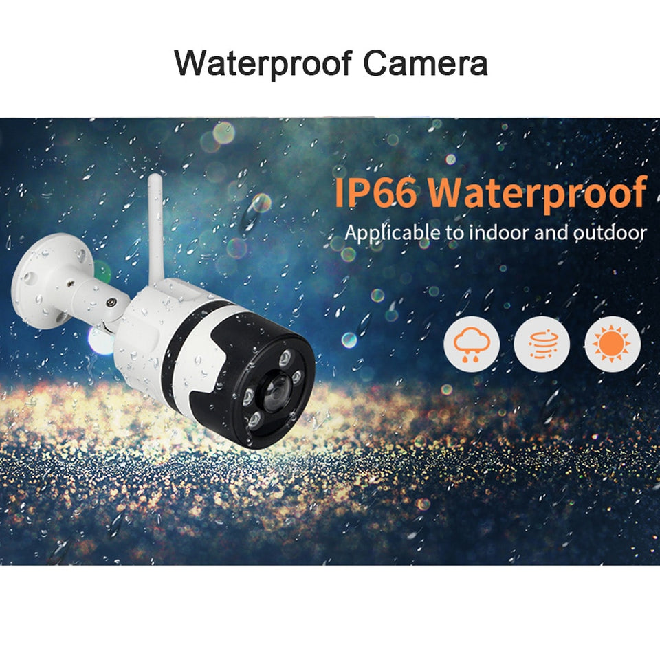 INQMEGA Wifi Outdoor IP Camera 1080P 720P Waterproof Wireless Security Camera Two Way Audio Night Vision P2P Bullet CCTV Camera - Securgadget Store