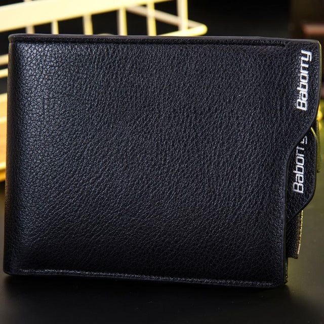 RFID protection Men's leather wallet removable blocking card holder for man purse with coin pocket - Securgadget Store
