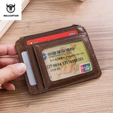 Genuine Leather RFID Blocking zipper card holder - Securgadget Store