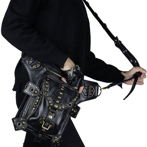 Punk outdoor one-shoulder slant sport Waist Bag