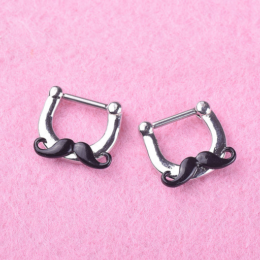 Gothic alternative beard nose ring