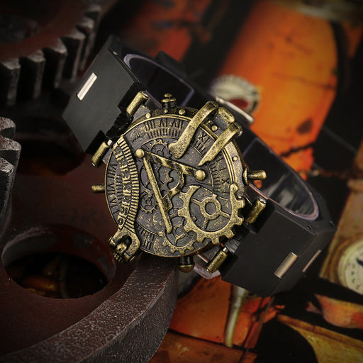 Steampunk antique dial unisex creative quartz watch