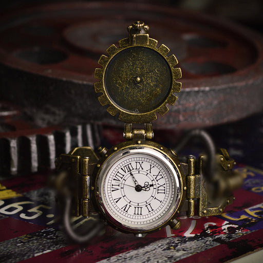 Steampunk detachable watch vintage men's quartz watch