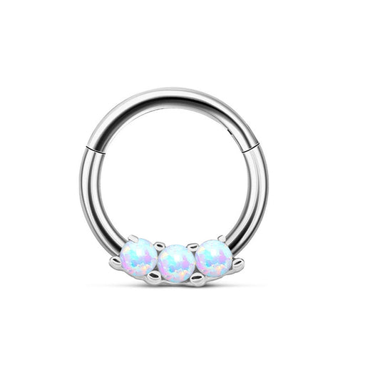 Gothic O type 3 opal nose ring