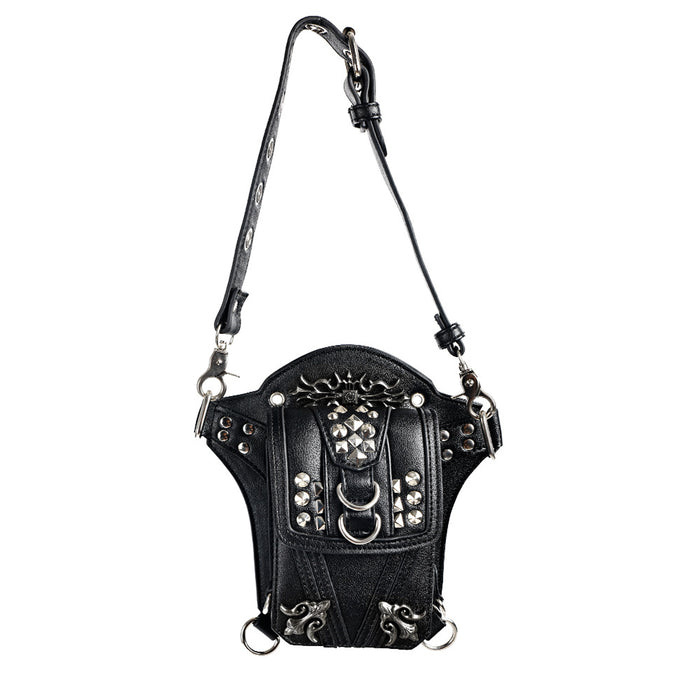 Punk motorcycle leg bag out of home multifunctional cross-body sports Waist Bag
