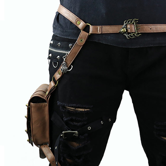 Steampunk retro legs pack out of home cycling Waist Bag