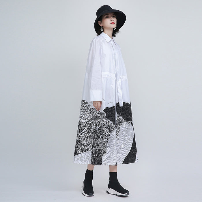 Goth abstract mid-length loose dress
