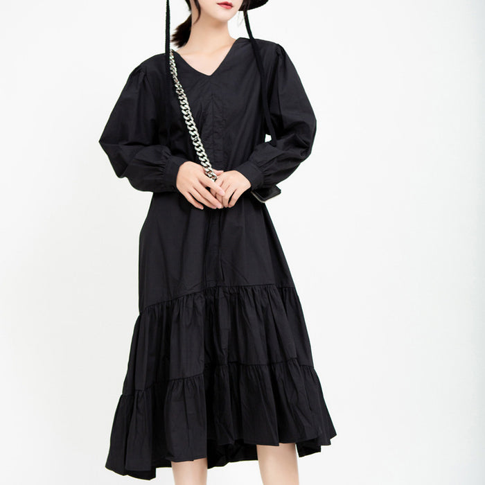Gothic Lolita Ruffled Long Sleeve Dress