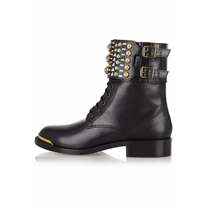 Gothic Punk Flat ankle boots for ladies