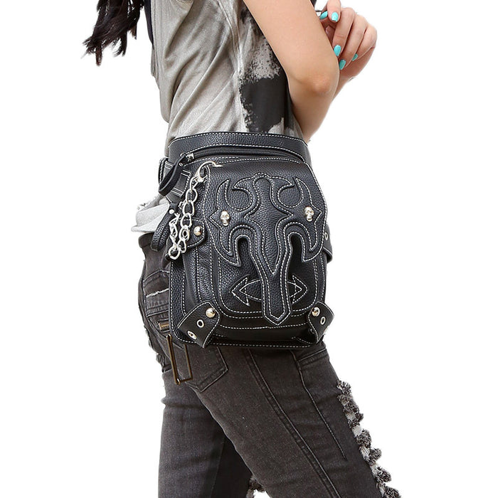 Punk plain outdoor running Waist Bag