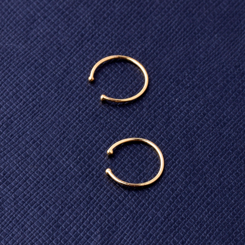 Gothic plain silver ring nose ring