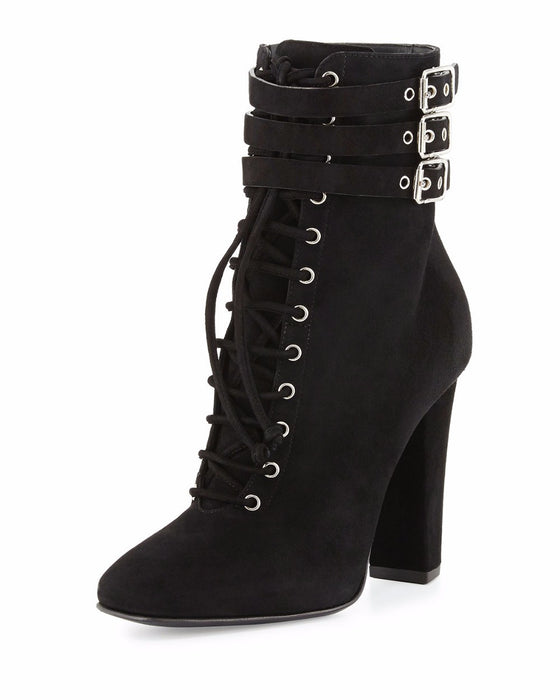 Gothic Punk Ankle boots with thick heels