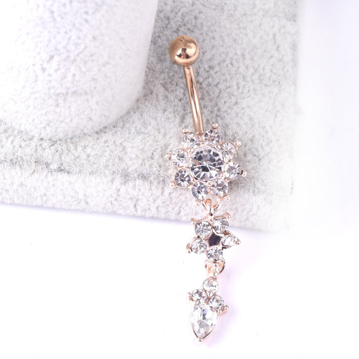 Gothic medical steel drop navel buckle pendant belly ring