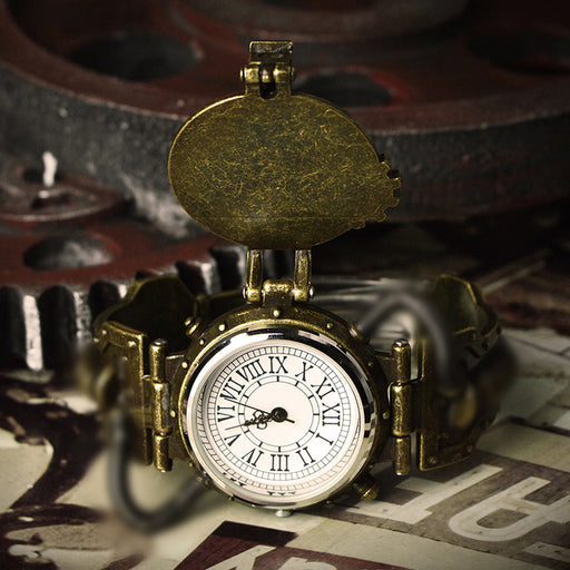 Steampunk retro industrial men's personality watch quartz watch