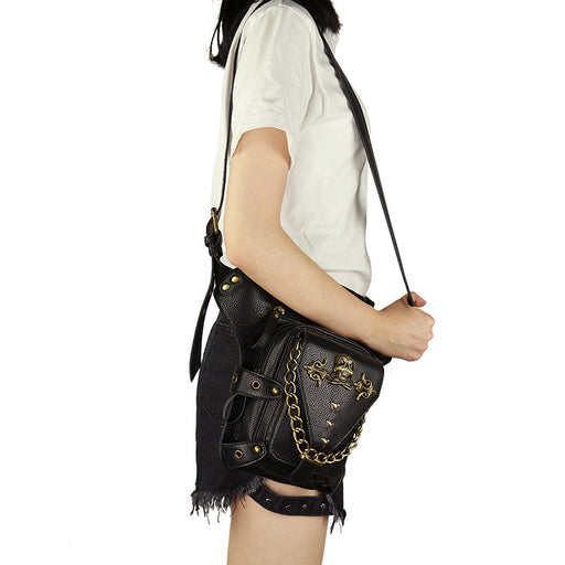 Steampunk outdoor lady biker Waist Bag