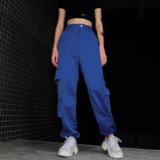 Gothic Streetwear multi-pocket trousers