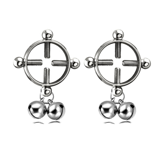 Gothic bell screw round nipple ring