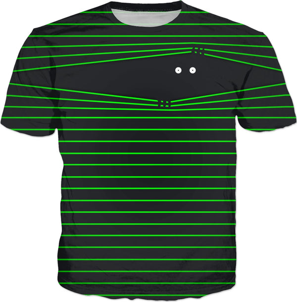 PEEK-A-BOO (Remastered) Neon Green - JohnnyAppz , PEEK-A-BOO (Remastered) Neon Green, T-Shirts